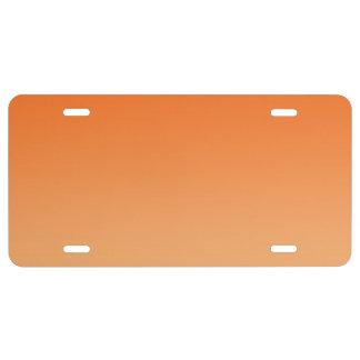 """""""Orange Ombre"""" License Plate"""