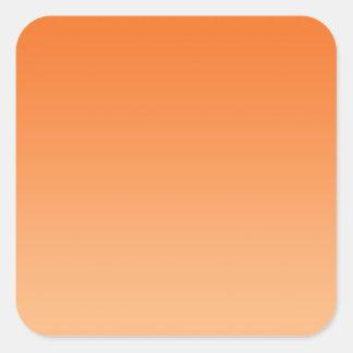 Orange Ombre Square Sticker