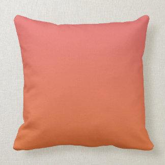 Orange Ombre Throw Pillow