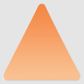 Orange Ombre Triangle Sticker
