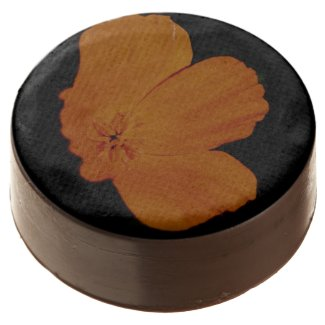 Orange On Black Chocolate Covered Oreo