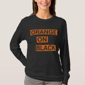 Orange on black T-Shirt