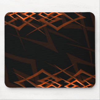 "Orange on Black ""Thorn"" Mousepad"