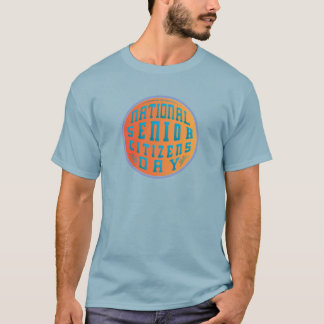 Orange on Blue National Senior Citizens Day T-Shirt