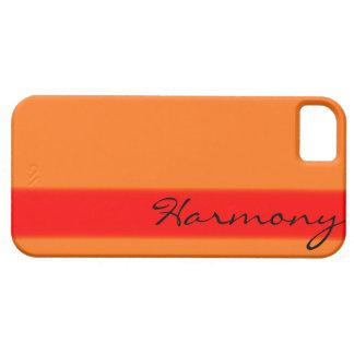 Orange on orange personalized iphone 5 case