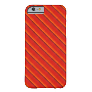 Orange on Red Stripes Barely There iPhone 6 Case