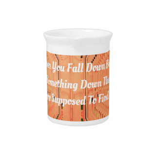 Orange Optical Illusion Tunneling With Motivation Drink Pitcher