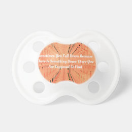 Orange Optical Illusion Tunneling With Motivation Pacifier