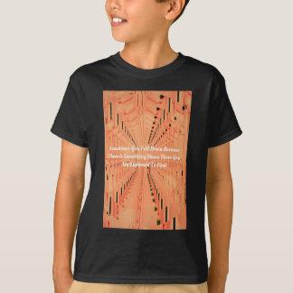 Orange Optical Illusion Tunneling With Motivation T-Shirt