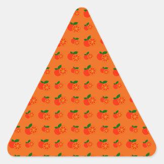 Orange oranges pattern sticker