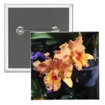 Orange Orchid Corsage Pin