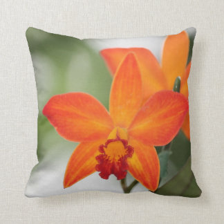 Orange Orchid Cotton Pillow