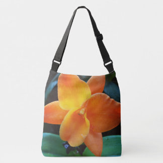 Orange Orchid Crossbody Bag