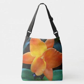 Orange Orchid Crossbody Bag