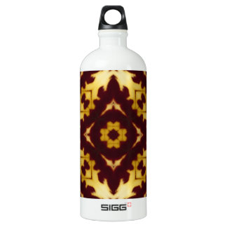 Orange Orchid Image 3 Aluminum Water Bottle