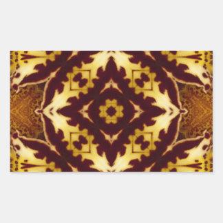 Orange Orchid Image 3 Rectangular Sticker
