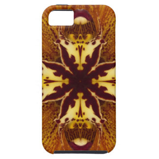 Orange Orchid Kaleidoscope Image 6 iPhone SE/5/5s Case