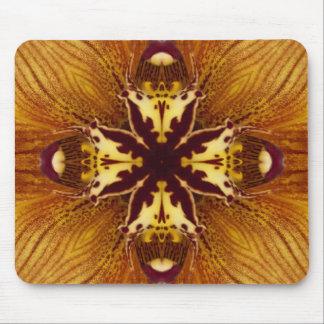 Orange Orchid Kaleidoscope Image 6 Mouse Pad