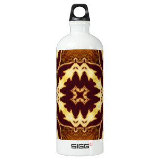 Orange Orchid Kaleidoscope Image 7 Aluminum Water Bottle