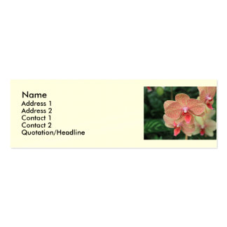 Orange Orchids Business Cards