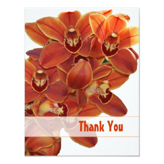 Orange Orchids Thank You Card