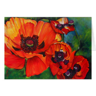 Orange Oriental Poppies | Greeting Card