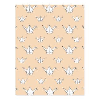 Orange Origami Cranes Postcard