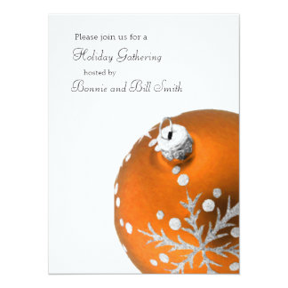 Orange Ornament Holiday Gathering Card