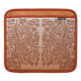 Orange Ornaments Sleeve For iPads