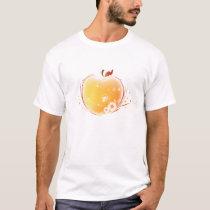 Orange Ornate Apple T-Shirt