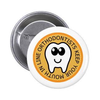 Orange Orthodontist Gift Button