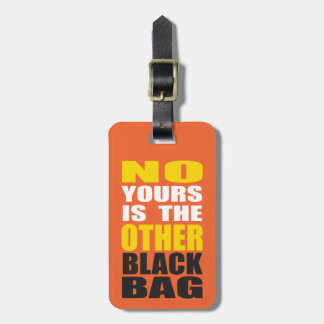 Orange Other Black Bag Luggage Tag Luggage Tags