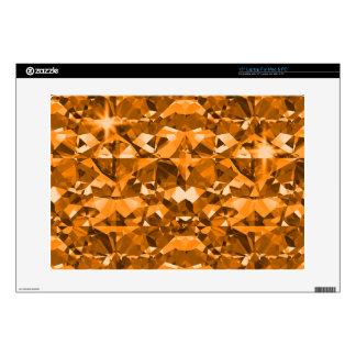 """Orange Outrage Diamonds Skin For 15"""" Laptop"""