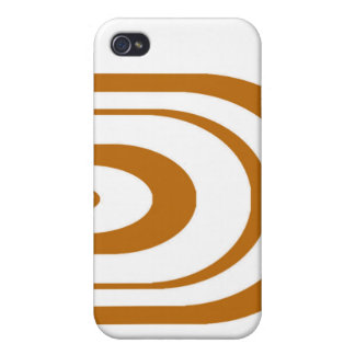 Orange Oval Graphic iPhone 4 Covers