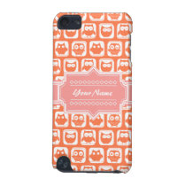Orange Owl Coral Personalized Name iPod Touch (5th Generation) Cover