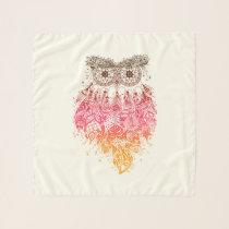 Orange Owl Dream to catcher Scarf