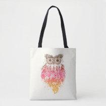 Orange Owl Dream to catcher Tote Bag