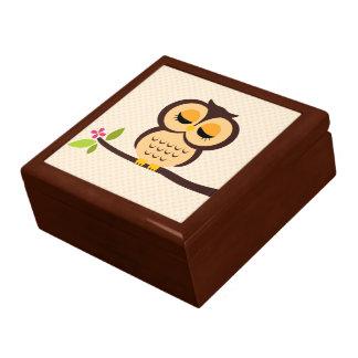 Orange Owl Illustration Gift Box