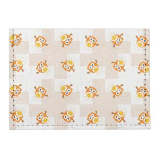 Orange Owl Illustration Pattern Card Wallet