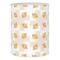Orange Owl Illustration Pattern Flameless Candle