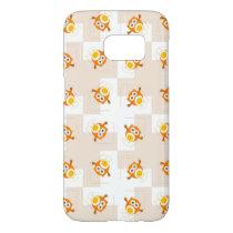 Orange Owl Illustration Pattern Samsung Galaxy S7 Case