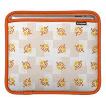 Orange Owl Illustration Pattern Sleeve For iPads