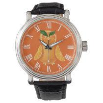 Orange owl wrist watch