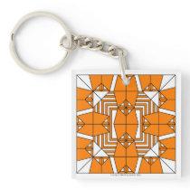 Orange Owls Key Chain