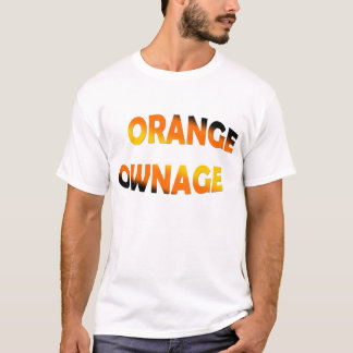 Orange Ownage Cheapo T Shirt 2008 Edition