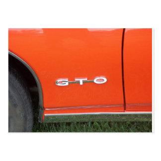 Orange Paint on classic car GTO Large Business Card
