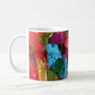 orange paint skins mini assemblage coffee mug
