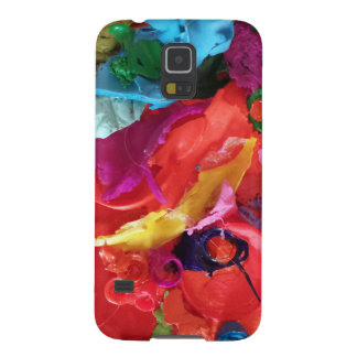 orange paint skins mini assemblage galaxy s5 cover