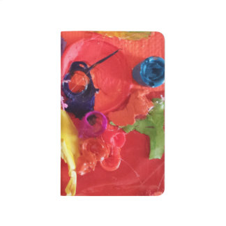 orange paint skins mini assemblage journal