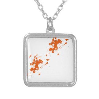 Orange paint splash custom necklace